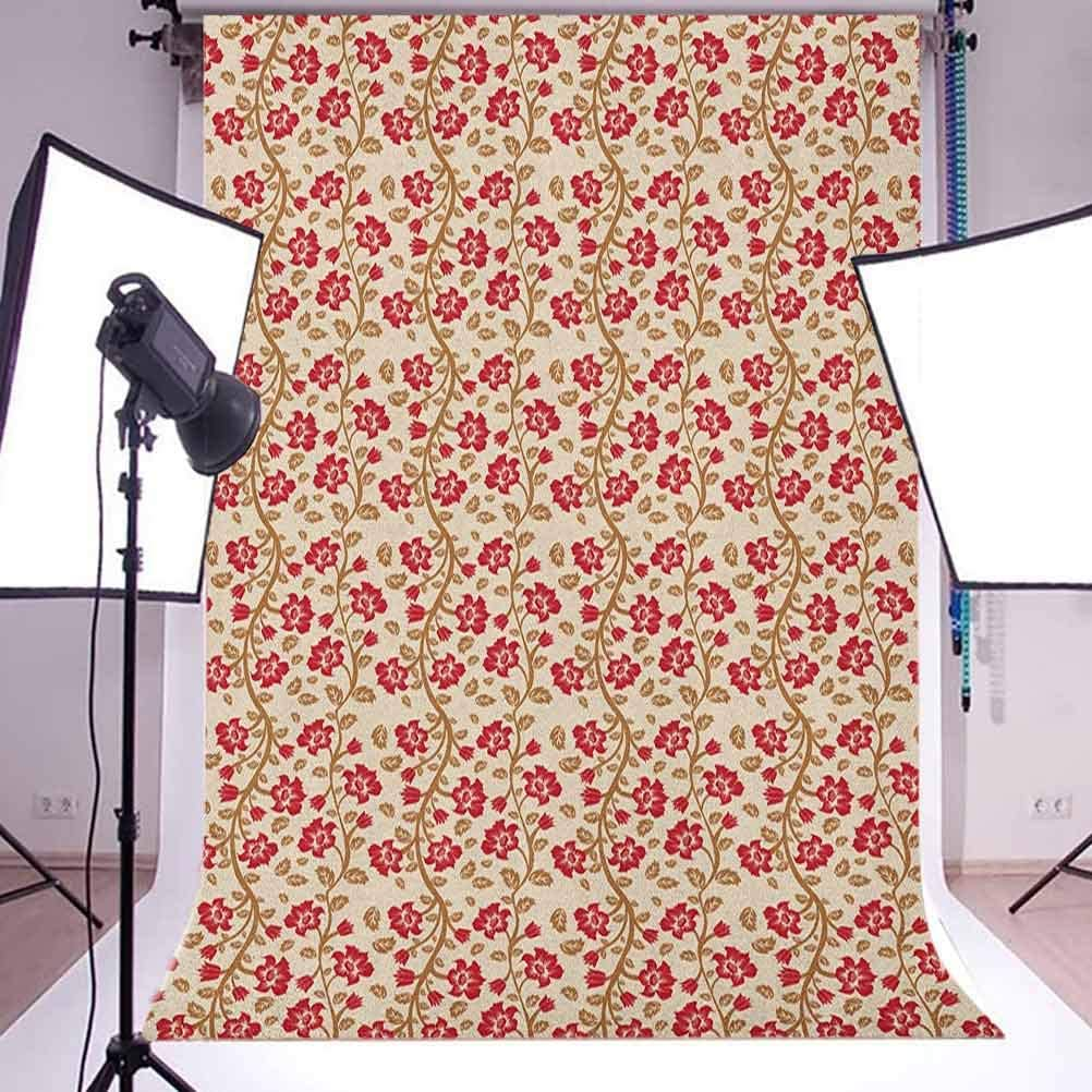 8x12 FT Narwhal Vinyl Photography Background Backdrops,Love Themed Sketch Illustration with Arctic Whale Bird and Floral Arrangement Background for Selfie Birthday Party Pictures Photo Booth Shoot