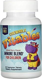 Vitables Immune Blend Chewables for Children, Mixed Berry Flavor, 90 Vegetarian Tablets