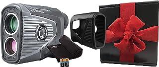 $579 » Bushnell Pro XE Golf Laser Rangefinder Gift Box Bundle | with Protective Skin (Black), Microfiber Towel and Extra CR2 Batt...