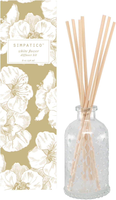 Simpatico 高品質新品 White Flower Diffuser Reed Kit テレビで話題