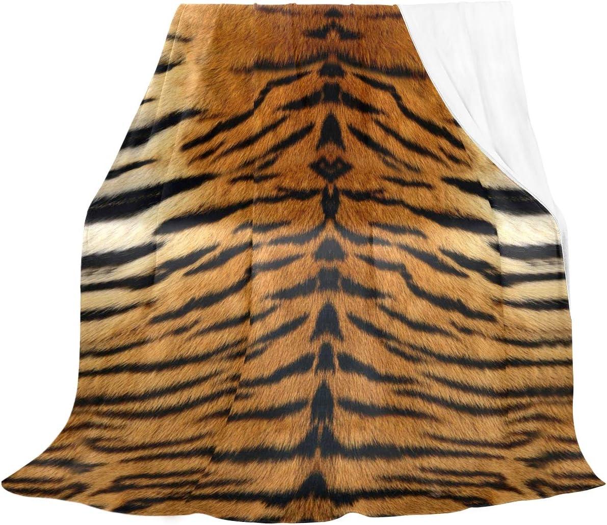Naanle Animal Many popular brands Print Max 43% OFF Tiger Blanket Velvet Bed Crystal Bla Flannel