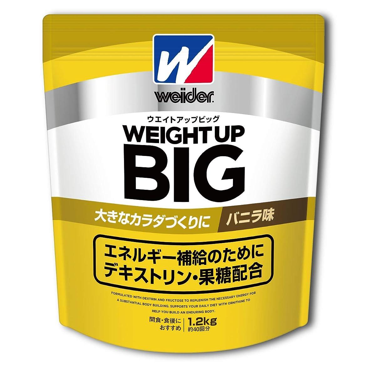 放送概念難破船ウイダー ウエイトアップビッグ バニラ味 1.2kg (約45回分) 増量プロテイン デキストリン?果糖?カゼイン オルニチン配合