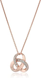 Sterling Silver Diamond Accent Knot Pendant Necklace , 18