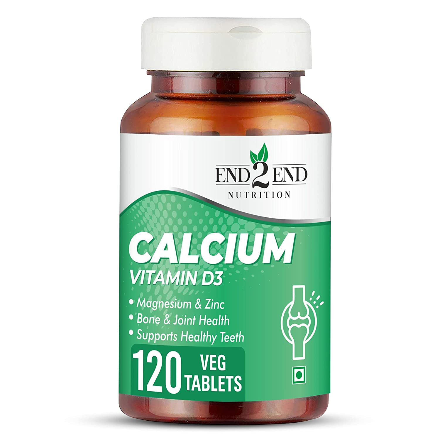 End2End Nutrition Vitamin D3 is the  best calcium tablets for women india