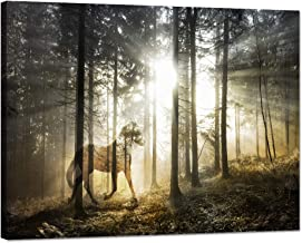 Yatsen Bridge Double Exposure Print Artwork Wall Art Decor Homes 1 Piece Canvas Artistic Mystical Horse Fantasy Forest Picture Painting Modern Poster Decor Indoor Ready to Hang(40''W x 30''H)