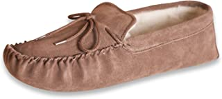 Nordvek Mens Sheepskin Moccasin - Soft Suede Sole Wool Lined Slippers # 423-100