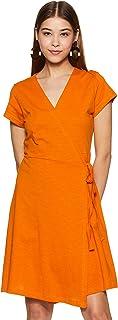 علامة أمازون التجارية - فستان لف قطني برمز
