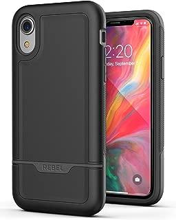 Encased Heavy Duty iPhone XR Protective Case (2018) Military Grade Full Body Cover (Rebel Armor) - Black