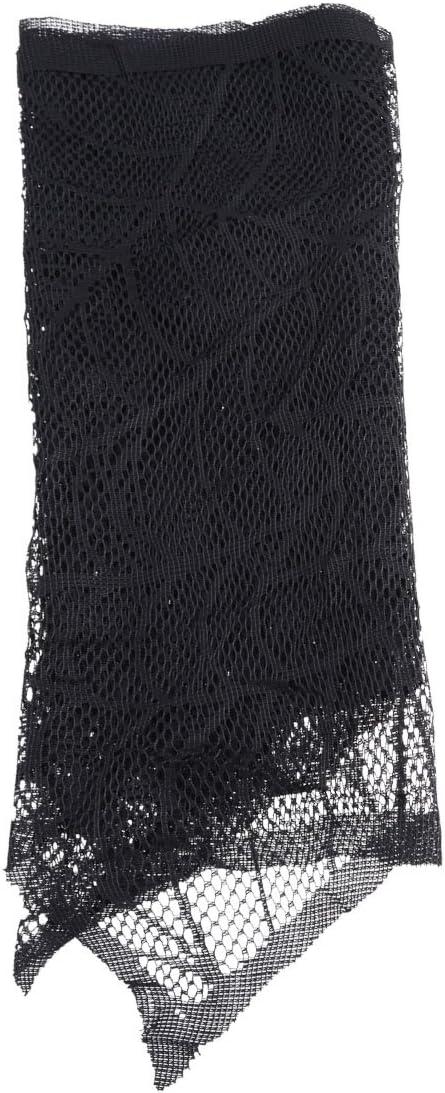 Amosfun 1 Pc Fireplace Finally resale start Scarf Black Miami Mall 258x Spiderweb Lace Halloween