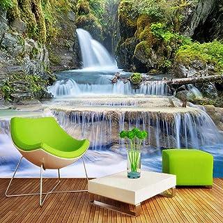 Msrahves Wallpaper Wall Murals Groen bergen waterval landschap 200X180CM Fotobehang Muurschildering Room Decor Grote Kunst...