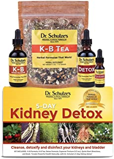 Dr. Schulze's   5-Day Kidney Detox   Detoxes & Cleanses Bladder   Herbal Dietary Supplement   Weight Loss Aid   Dissolves ...