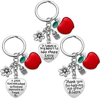 Teacher Appreciation Gift for Women - 3pcs Teacher Keychain Teacher Gifts, Thank You Gifts for Teacher, Christmas Gifts fo...