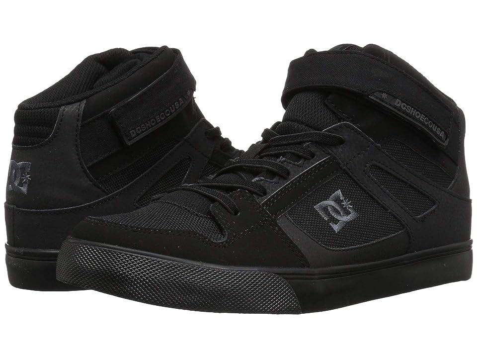 DC Kids Pure High-Top EV (Little Kid/Big Kid) (Black/Black/Black) Boys Shoes