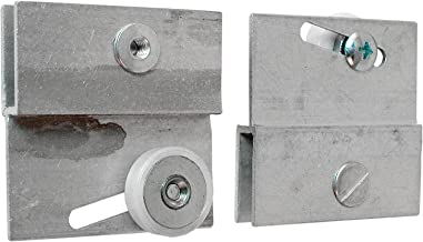 Prime-Line Products M 6054 Frameless Sliding Shower Door Top Bracket, 3/4 in., Flat Plastic Wheel, Steel Ball Bearings