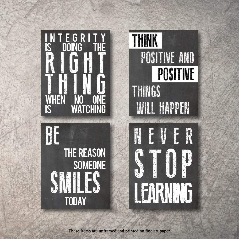 Poster Motivational Quotes Positive Words Office Inspirational Art Wall 100