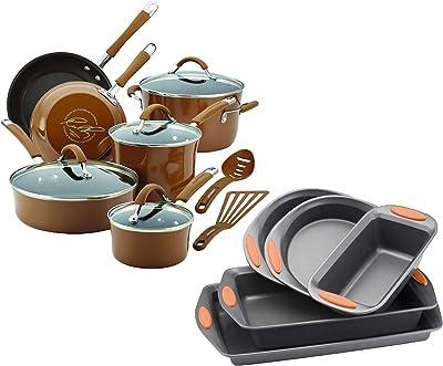 Amazon.com: Copper Chef Stack-able Black Diamond 5-piece Non ...