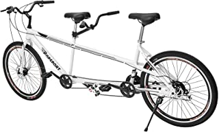 Mophorn Dual Drive Tandem Bike 26 Inch Wheel Twinn Tandem Bicycle Shimano 7 Mechanical Disc Brakes