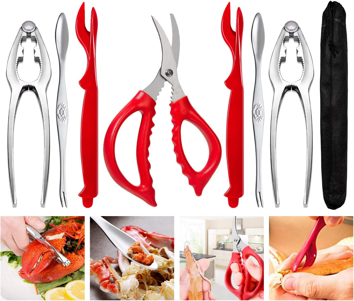 Crab Crackers and Tools Picks Regular outlet store Set Leg