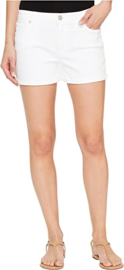 Hudson Asha Mid-Rise Cuffed Five-Pocket Shorts in White