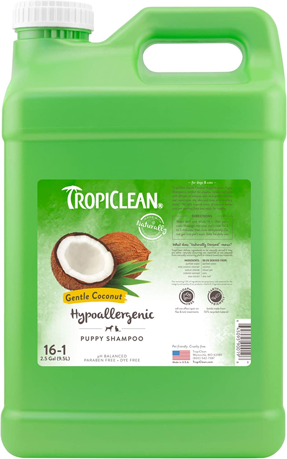 TropiClean Shampoos for SEAL limited New product! New type product Pets Made in USA Derived Naturally - In
