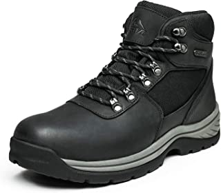 NORTIV 8 Men's Ankle Waterproof Work Boot Mid Leather Outdoor Hiking Boots