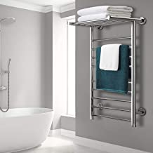 Heated Towel Rail Rack 14 Rungs Bathroom Devanti Electric Clothes Warmer Wall-Mounted Home Use 3-5 Minute Heat-up 40°C-50°...