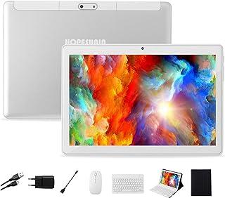 HOPESUNIN Tableta Android de 10.0 Pulgadas con Sistema operativo Android 9.0, 4GB RAM + 64GB ROM-certificación gsm de Google, Tableta ultradelgada de 8000mAh / 5MP + 8MP / Type-C/WiFi (Blanco)