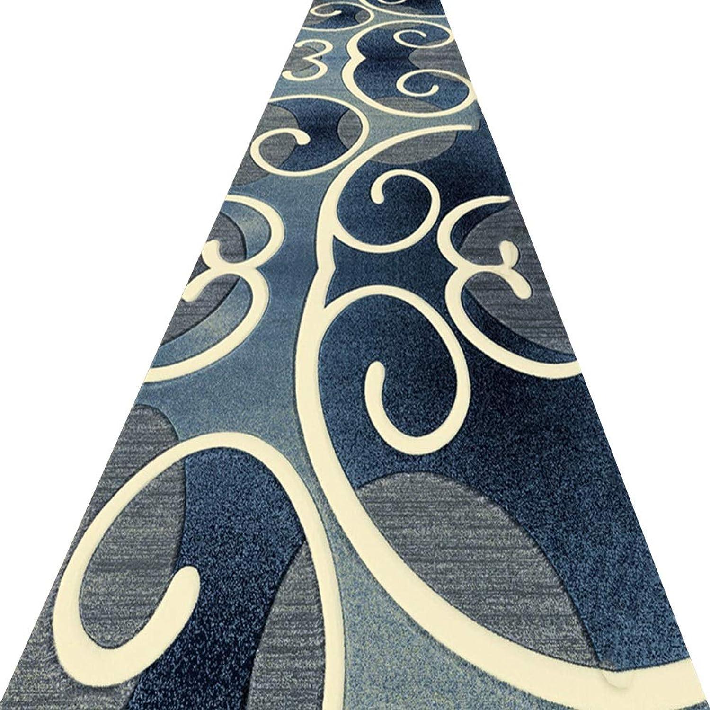 marca famosa KKCF-Alfombras KKCF-Alfombras KKCF-Alfombras de pasillo Se Puede Cortar Resistente A Las Manchas Puerta No Pegada Cuidado Facil Fibra Química Azul,Múltiples Tamaos (Color   A, Tamao   1x2m)  venta caliente