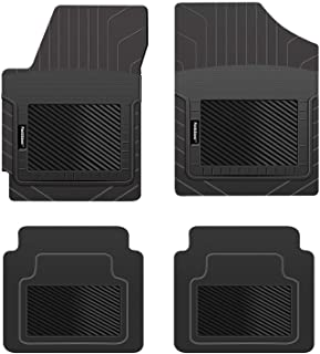 PantsSaver Custom Fits Car Floor Mats for Porsche Taycan 2020,Front & 2nd Seat Heavy Duty Floor Mats (4PC), All Weather Protection for Vehicle,Black