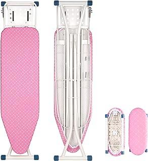 WOLTU Tabla de Planchar para Plancha con Sistema de Seguridad Altura Ajuestable 7 mm de Espesor Rosa 132 x 33.5 x (74-88) cm