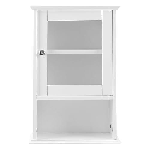 Premier Housewares - Armario de pared con repisa y puerta frontal de cristal (51 x
