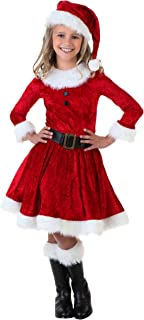 FancyDressWale Miss Santa Dress for Christmas (Red, 9-12 Years)