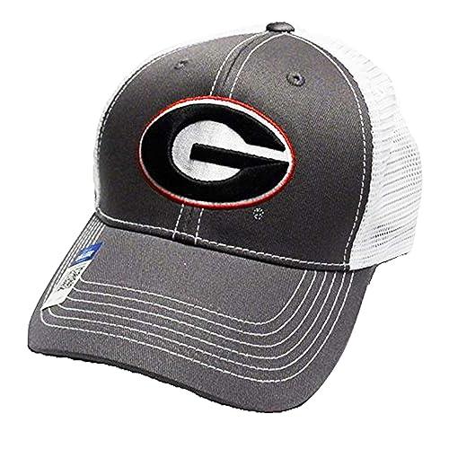 e763663bc55 Georgia Bulldogs Adjustable Gray Cap Mesh Back Hat