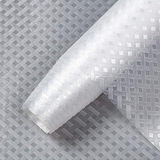 amorus Shelf Liner, Non Adhesive Cabinet Liner, 17.5 Inch x 10 FT Waterproof EVA Fridge Liner Cupboard Mat for Kitchen, Pa...