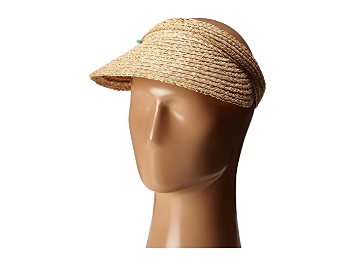 Hippie Hats,  70s Hats San Diego Hat Company RHV1503 Raffia Visor with Turqoise Trim Natural Casual Visor $36.00 AT vintagedancer.com