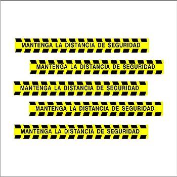 Pack 5 Vinilos adhesivos | Para suelo cinta adhesiva | Distancia ...