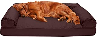Furhaven 45501011 Pet Dog Bed - Orthopedic Quilted Traditional Sofa-Style Living Room Couch Pet Bed with Removable Cover f...