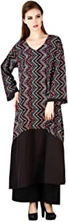 MEVE Readymade Black White Designer Kurta and Palazzo Set (L)