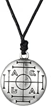 Dawapara Vintage Medieval Talisman for Money Pendant Necklace Wicca Jewelry for Men