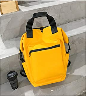 Casual Backpack,Waterproof Simple Large Capacity Personality Portable Student Handbag,Travel Bag for Men and Women Yellow