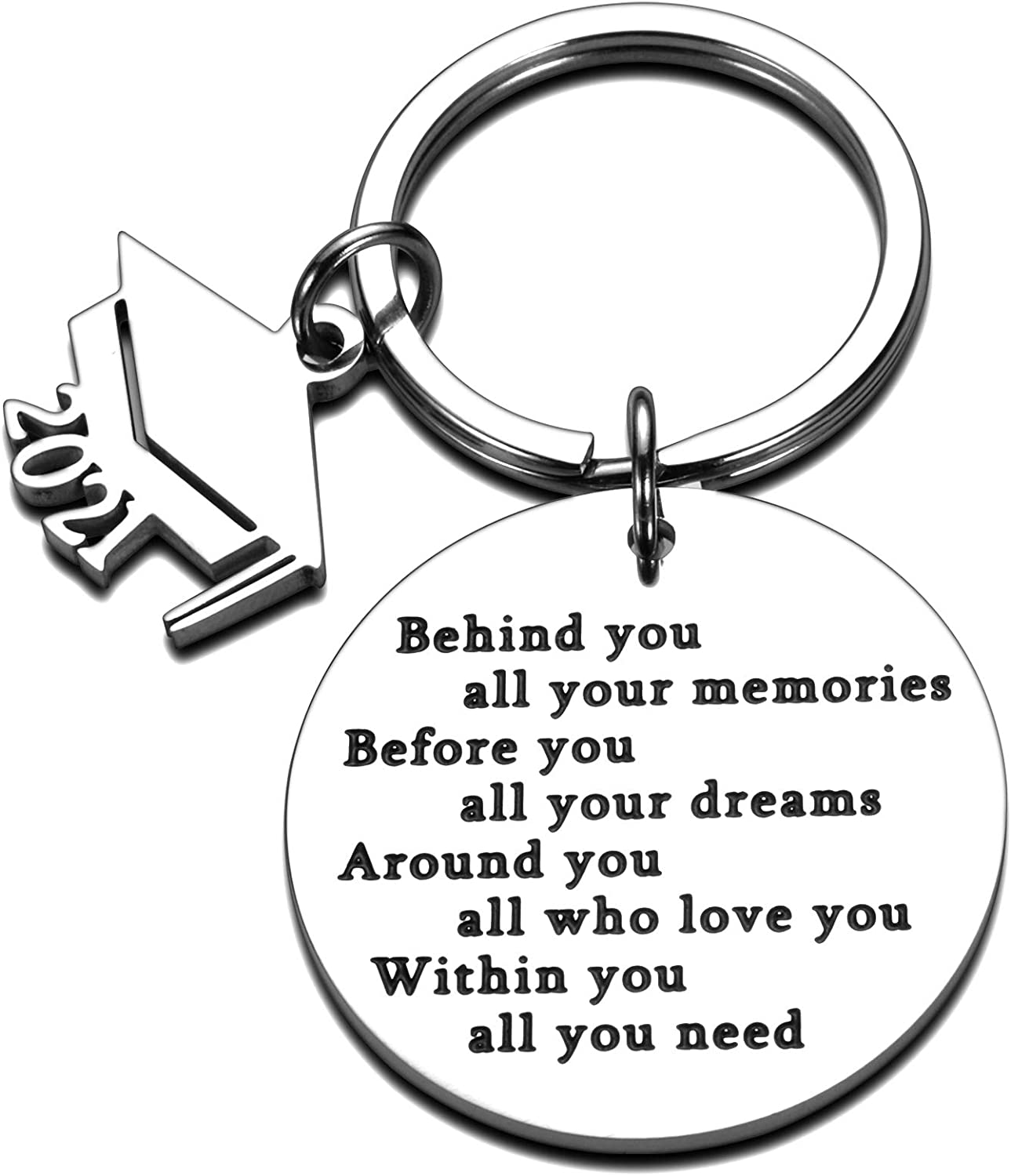 2021 Graduation Keychain Gift for Daughter Son Boys Girls Women Men Best Friends Class of 2021 Senior 2021 Inspirational Grad Gift for College Students Him Her Teen Teenagers Brother Sister Kids