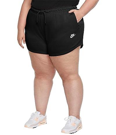 Nike Plus Size NSW Essential Shorts French Terry (Black/White) Women