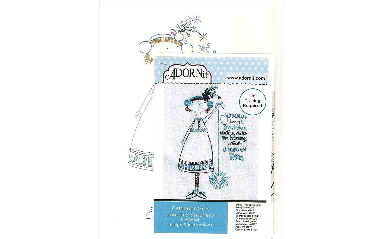 ADORNit 48112 Fabric MS Calender Girls Jan Crafts Supplies