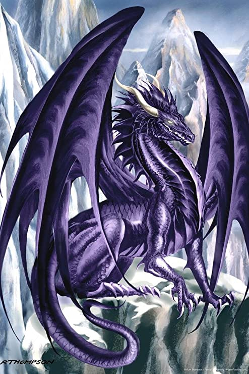Oceanus Dragon Poster by Ruth Thompson 12x18 inch Poster 12x18
