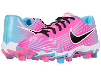 Nike Kids Hyperdiamond 3 Keystone (Toddler/Little Kid/Big Kid) (Pink Blast/Black/Baltic Blue/White) Kids Shoes
