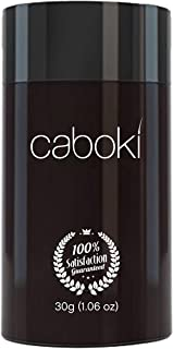 Hair Fibers for Thinning Hair - 100% Undetectable Natural Formula - Completely Conceals Hair Loss in 15 Seconds - caboki BLACK 30gm