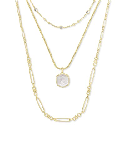 Kendra Scott Davis Triple Strand Necklace (Ivory Mother-of-Pearl) Necklace