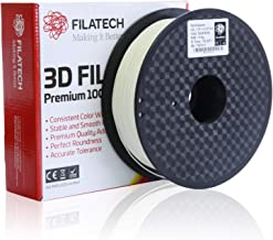 Filatech PLA Filament, Solid White, 1.75mm, 1 Kg, Made in UAE
