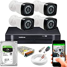 Kit Cftv 4 Cameras Seguança Full Hd 1080p Dvr 1104 Intelbras 1tb