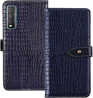 YLYT Shockproof - Blue Flip Leather TPU Silicone Luxury Cover Stand Wallet Case For Vivo Y70t 6.53 inch Pouch With Card Sl...